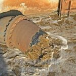 Raw Sewage Flows in to Hooe Lake