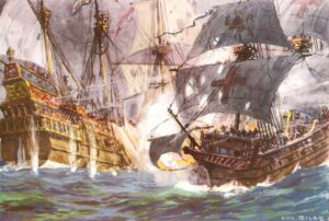 The defeat of the Armada in 1588