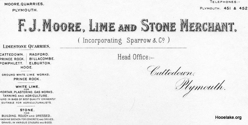 F J Moore letterhead