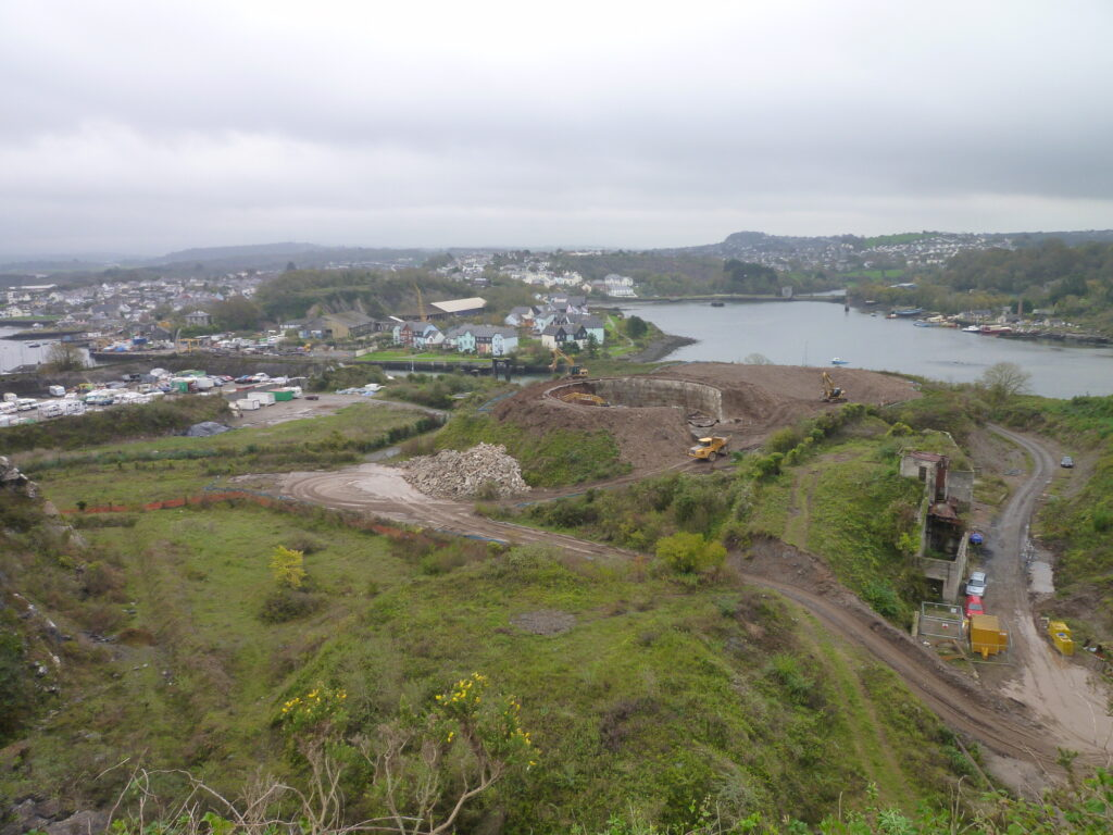 Hooe Quarry Oil Tank Demolition