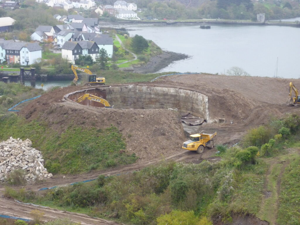 Hooe Quarry Oil Tank Demolition 2