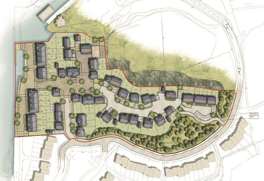 Housing Plan for 53 Homes in  Bostons Boat Yard