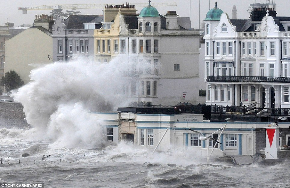 Plymouth Hoe & Foreshore takes a battering