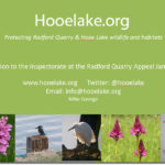 Latest on Radford Quarry Appeal + Hooelake.org Presentation
